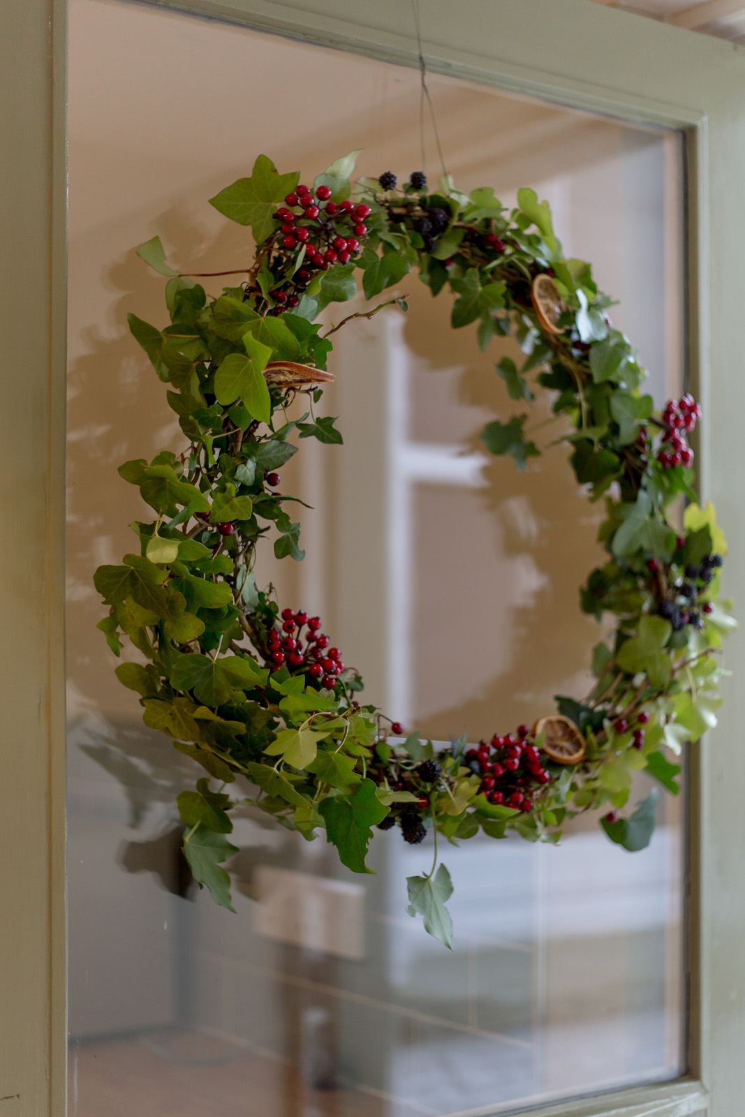Festive wreath to welcome Christmas and New Year guests