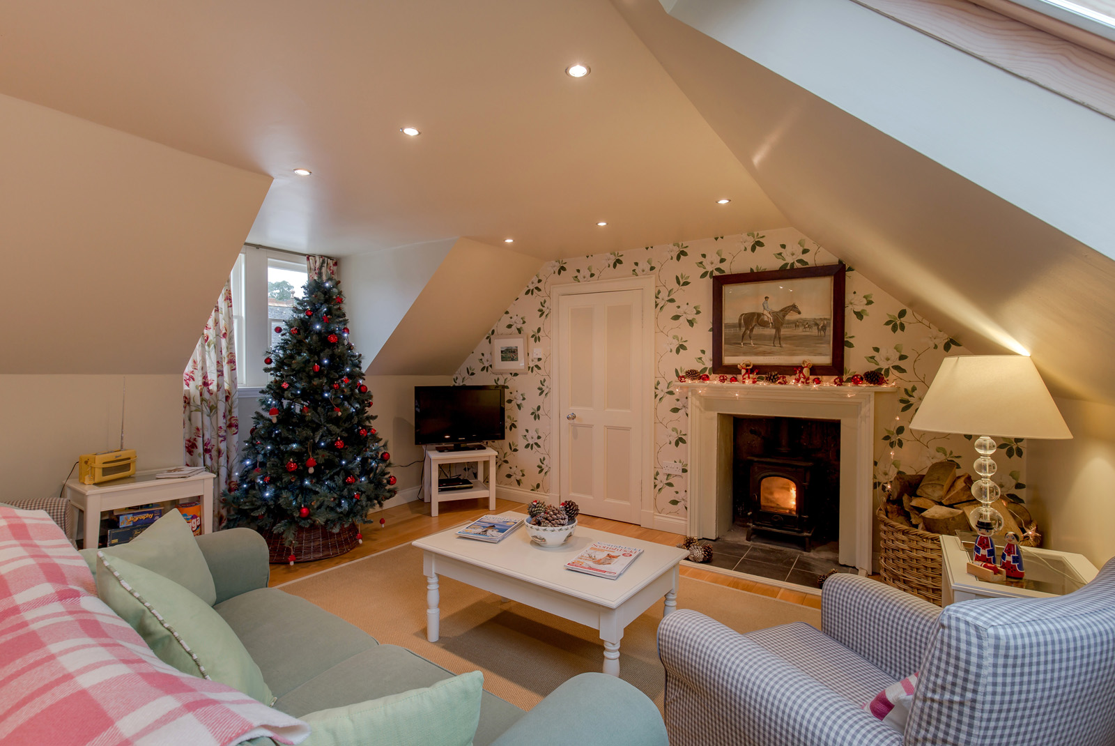 Stables Cottage has a cosy log burner