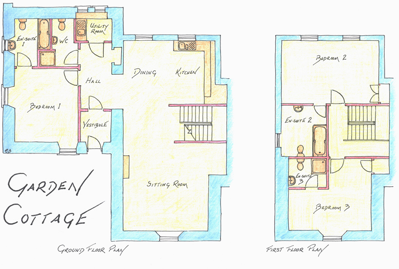 Garden cottage sleeps 2 6 corsewall estate holiday cottages for Backyard cottage plans