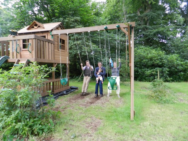 Sturdy Wooden Climbing Frame